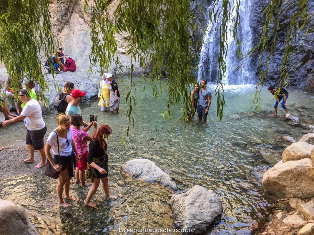 As cachoeiras de Ourika, no Marrocos