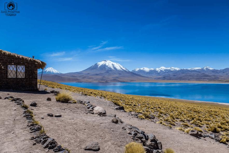 Lagunas Altiplânicas, no deserto do atacama, chile