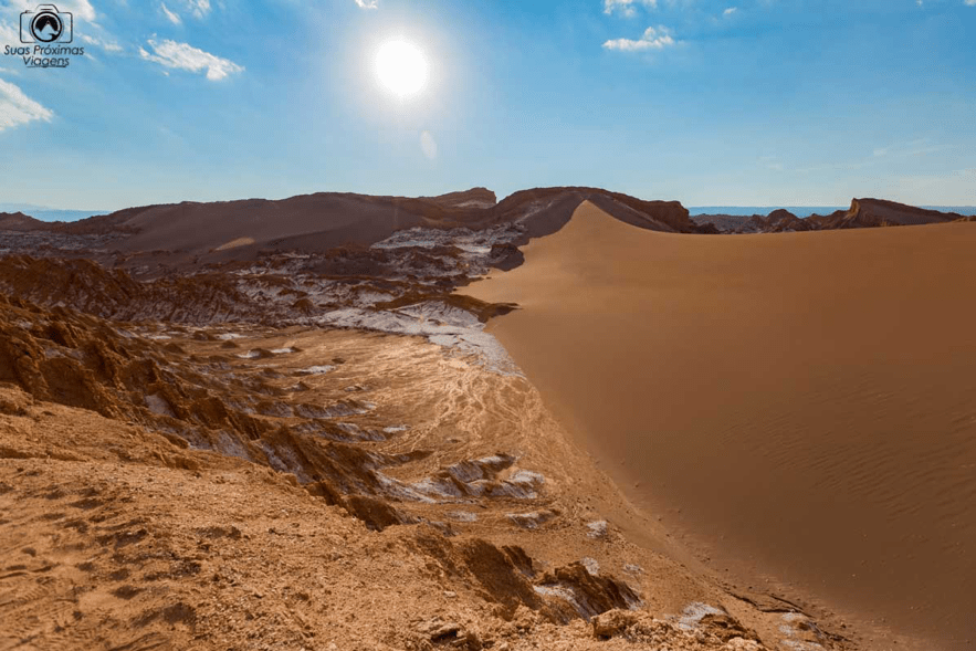 Valle de la luna, no deserto do atacama, chile