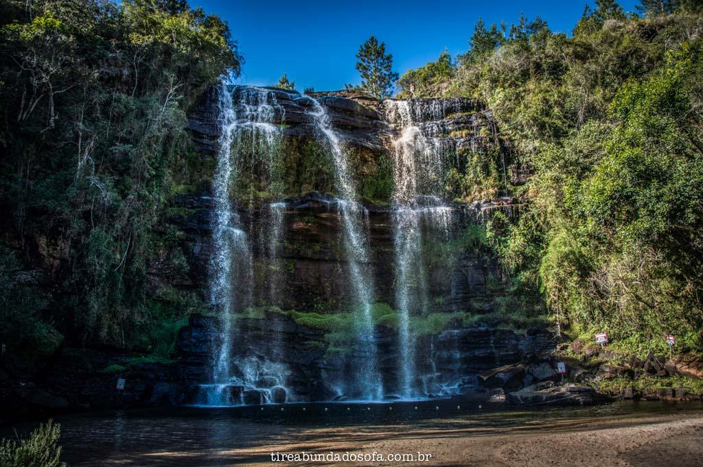 Cachoeira da Mariquinha, em Ponta Grossa