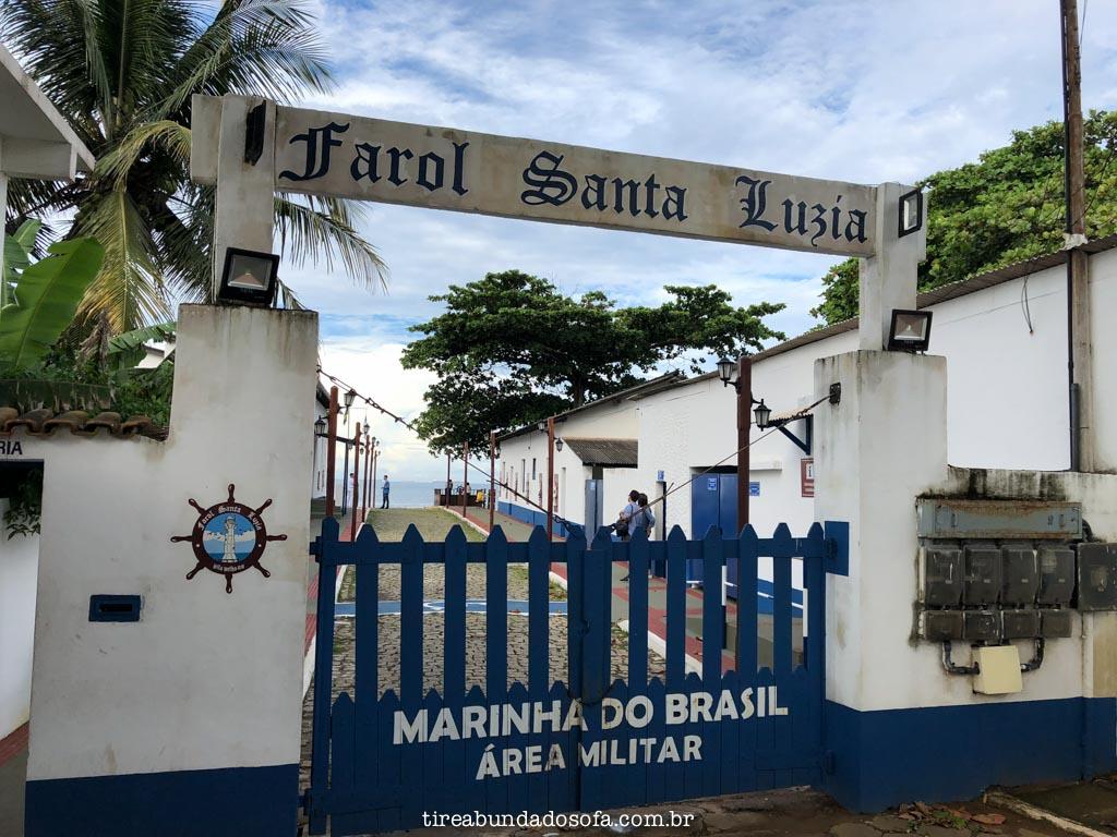 Farol de Santa Luzia, em Vila Velha, Espírito Santo