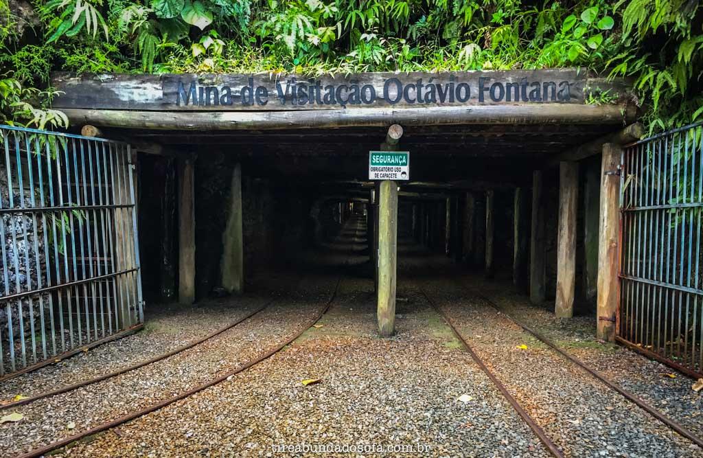 Entrada da mina de visitação, em criciúma