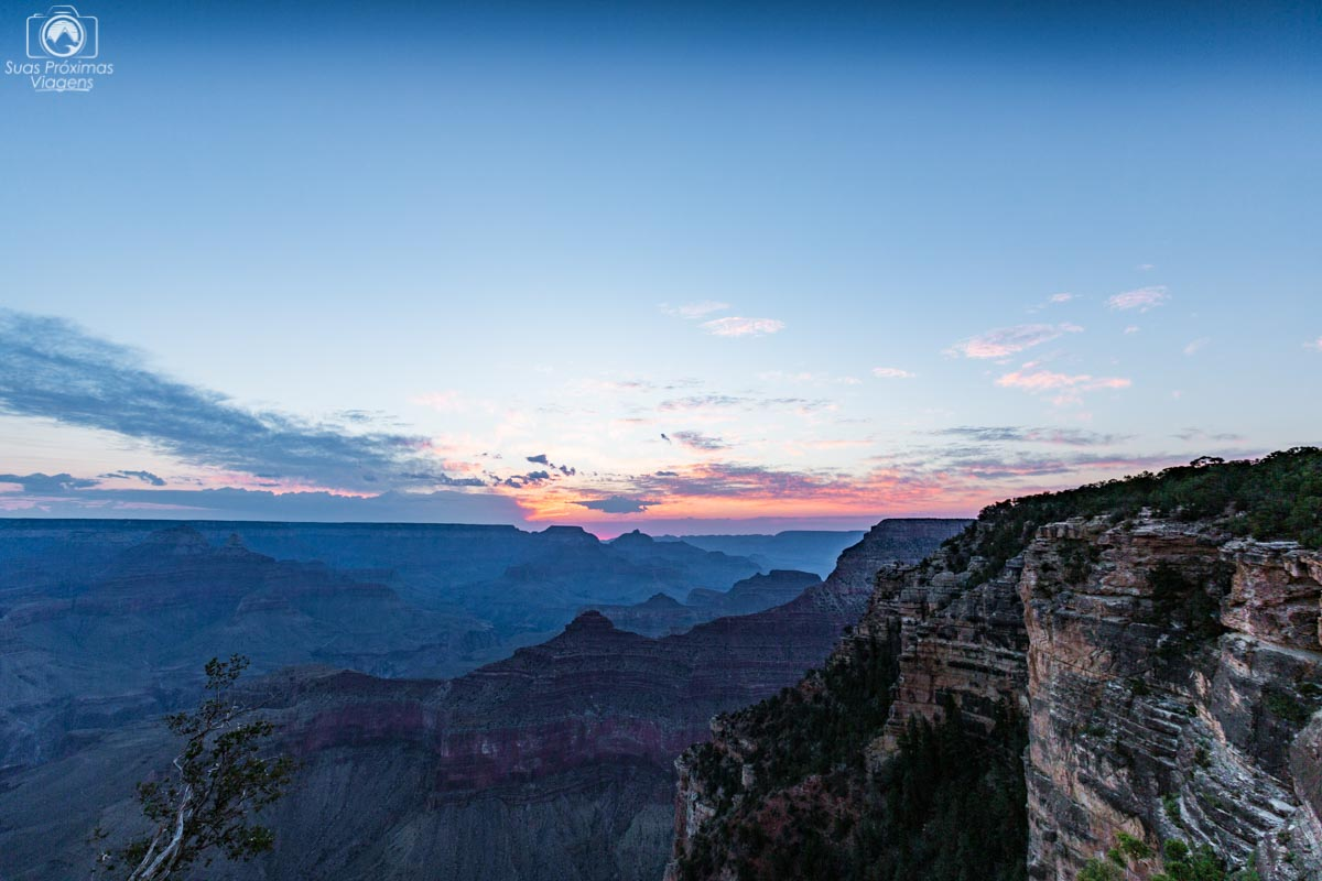 pôr do sol no grand canyon, las vegas
