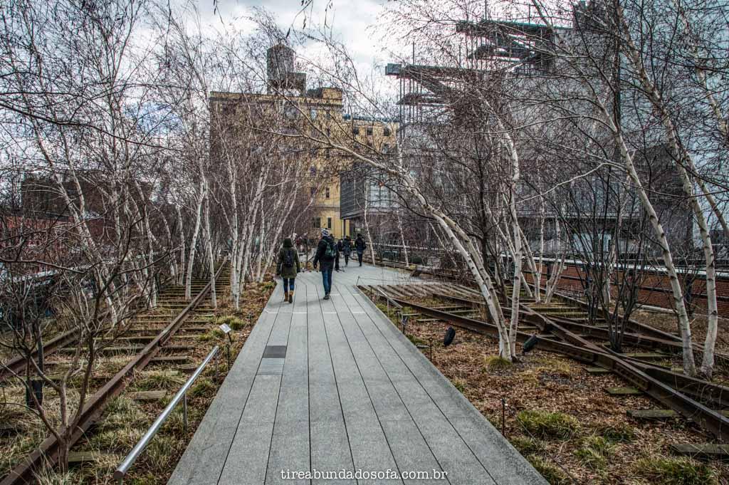 O lindo Highline Park, em nova york
