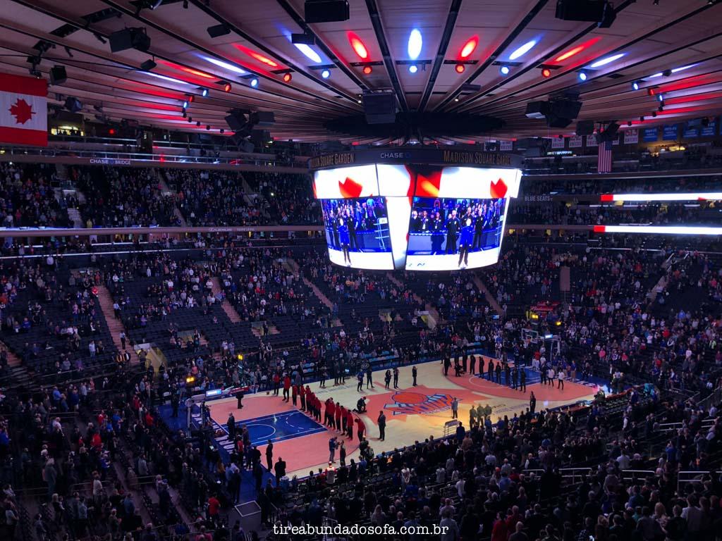 NBA no Madison Square Garden, em nova york