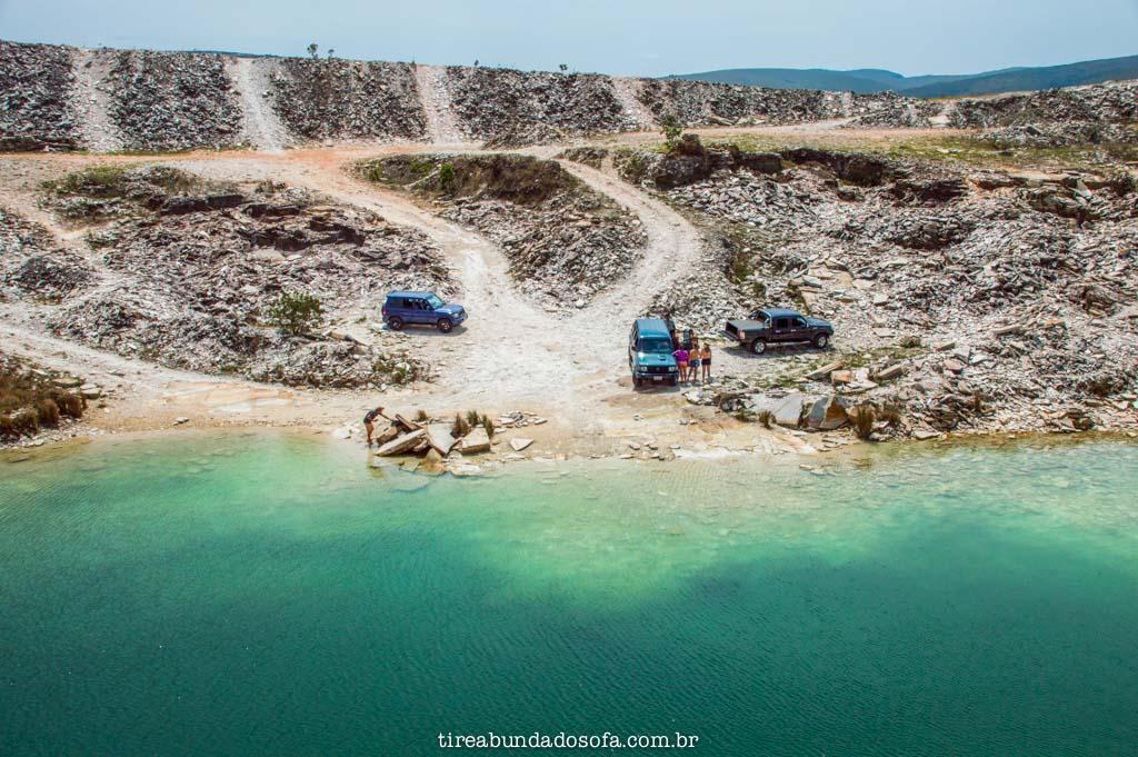 Pedreira da Lagoa Azul, em capitólio, minas gerais