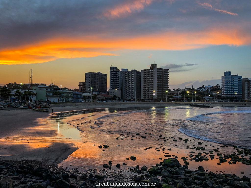 pôr do sol em Barra Velha, santa catarina