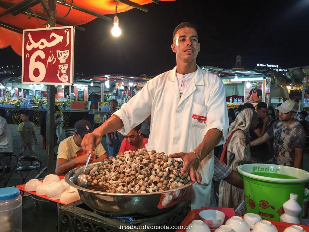 Vendedores poliglotas do marrocos