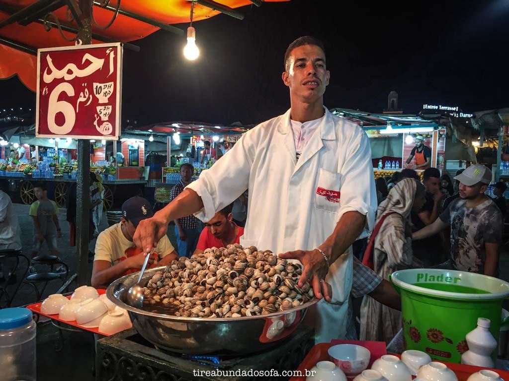 Comida de rua no Marrocos