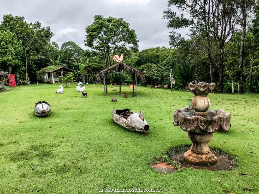 Jardim da Oficina de Agosto, em Bichinho, Minas Gerais