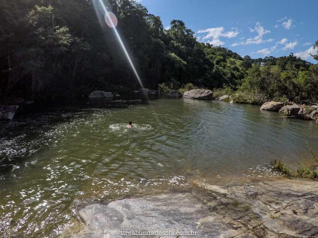 Poço da proa, no Parque Serra do Moleque, em Carrancas, Minas Gerais