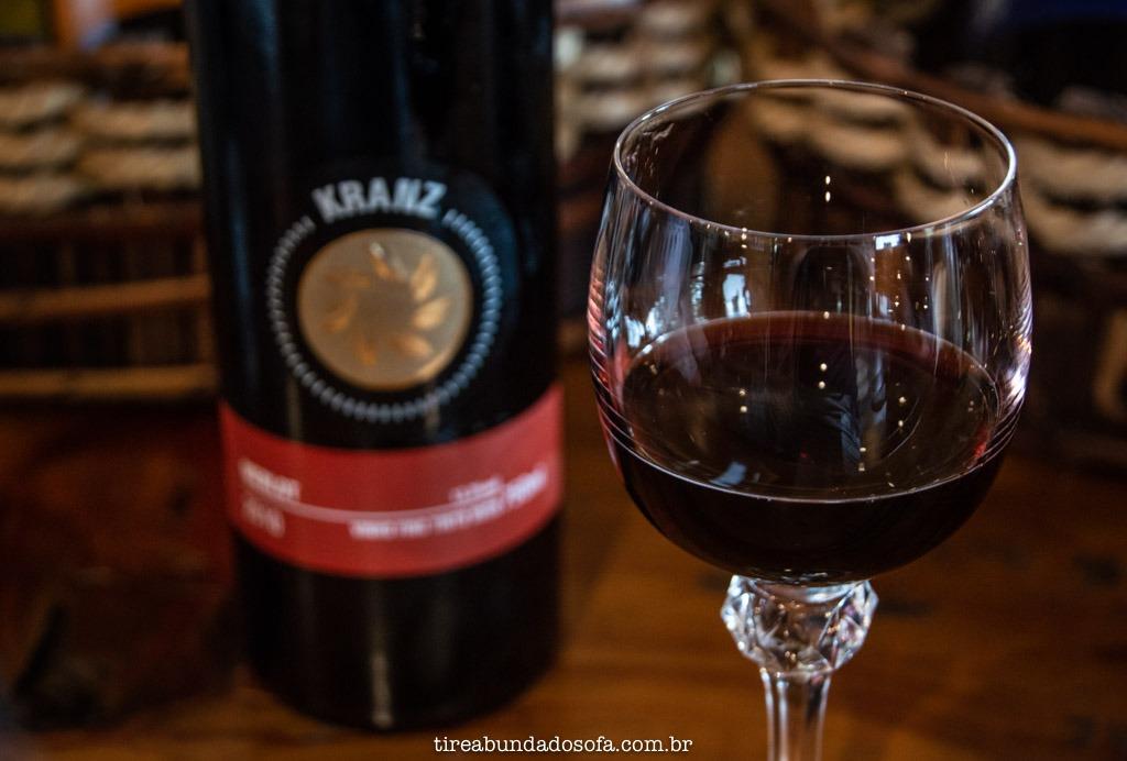 Degustação de vinhos, na Vinícola Kranz, em Treze Tílias, Santa Catarina