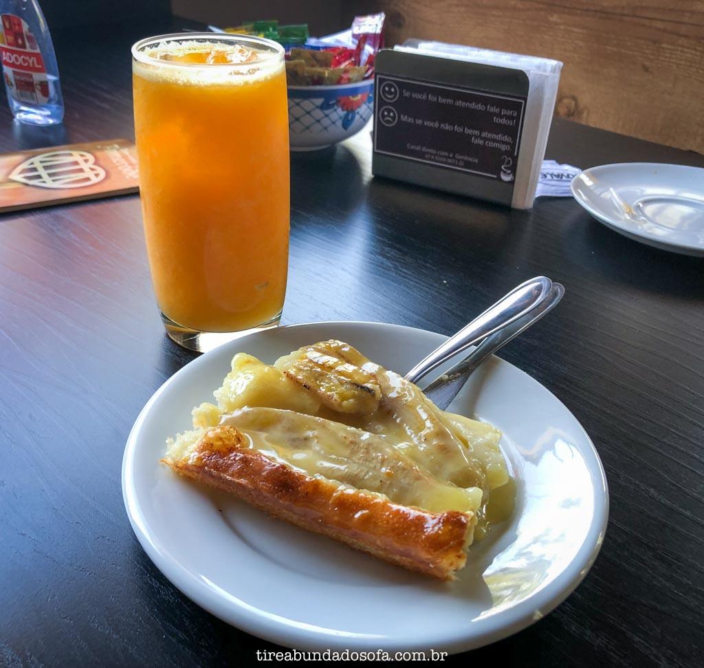 Cuca de banana, nata e canela, em Pomerode, SC