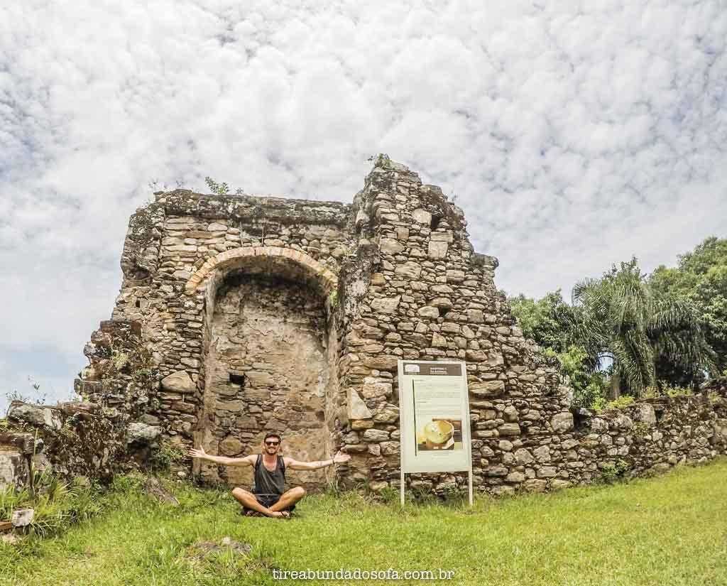 As ruínas do Abarebebê, em peruíbe, sp