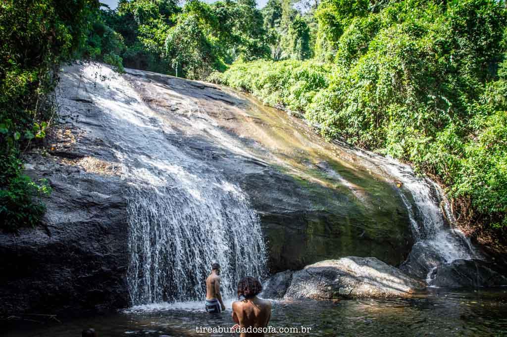 Primeira parte da Cachoeira 3 Tombos, em Ilhabela