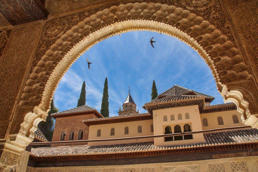 Famosa Alhambra em Granada, na Espanha.