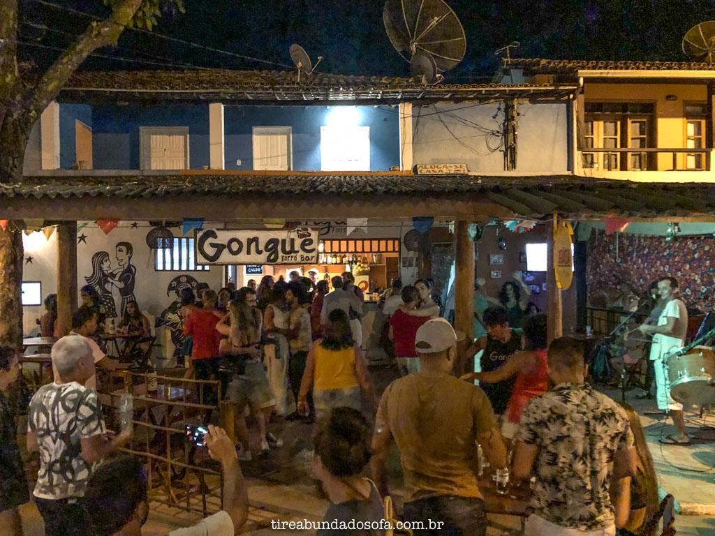 Noite de forró no Gonguê bar, em arraial dajuda