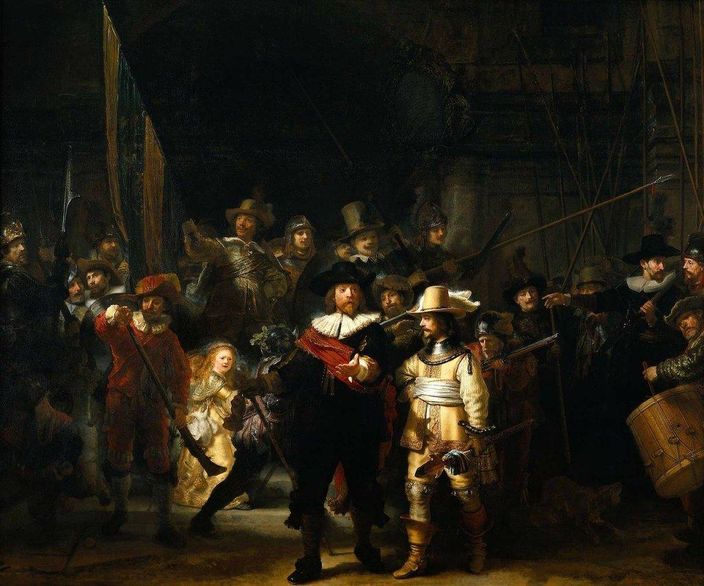 Quadro em Rembrandt Museum na cidade de Amsterdam, na Holanda
