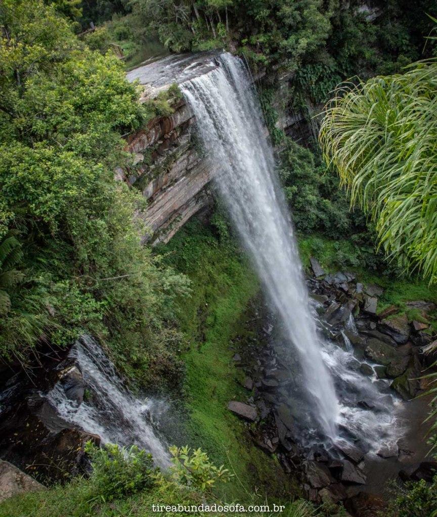 vista do alto da cachoeira paulista, em Doutor Pedrinho