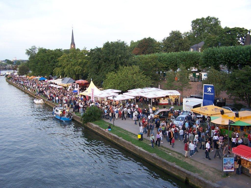 Museumsuferfest em Frankfurt, na Alemanha