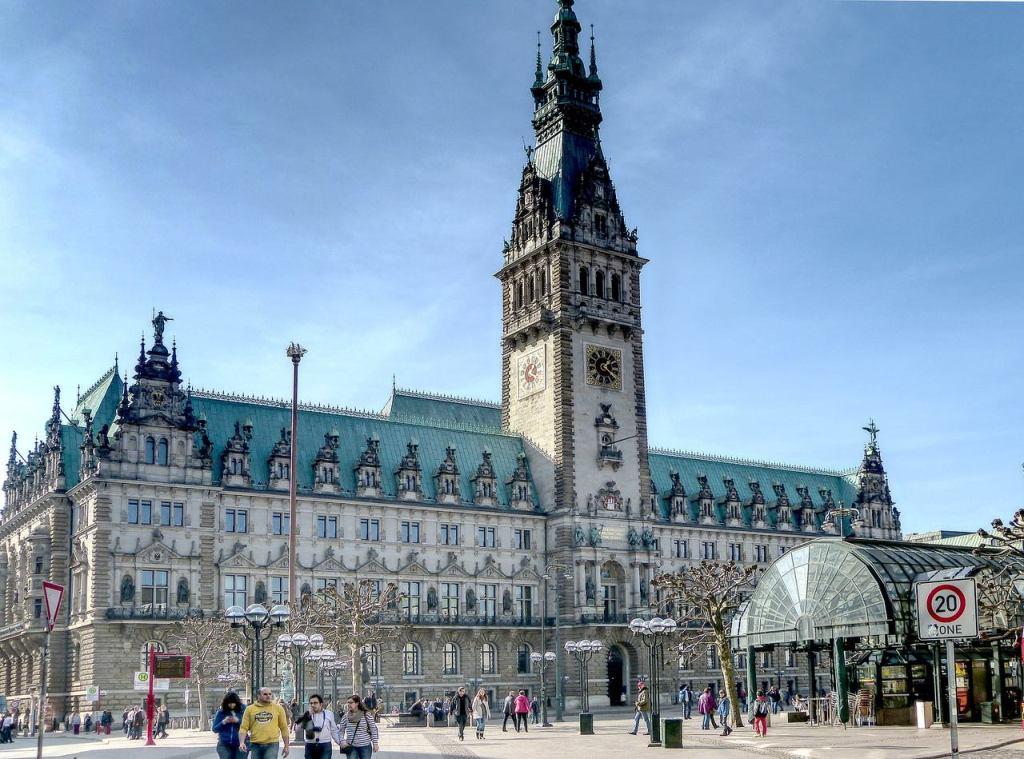 Rathaus em Hamburgo, na Alemanha