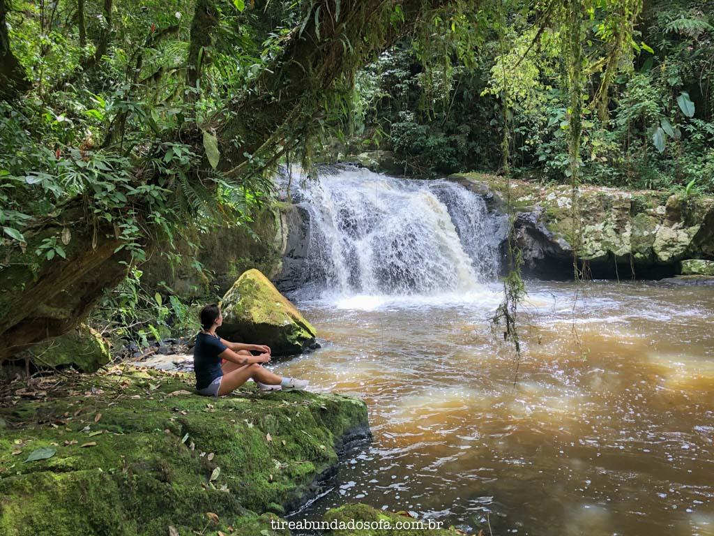 Uma das cachoeiras menores da Rota das Cachoeiras, em Corupá