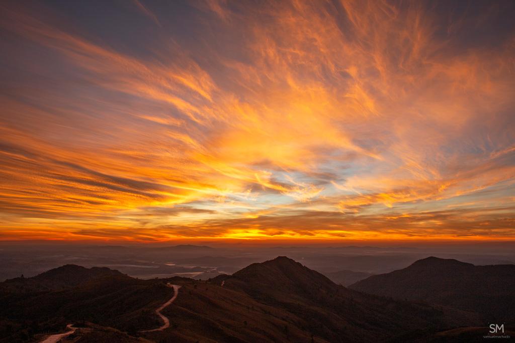 Pôr do sol nos Campos do Quiriri, em campo alegre