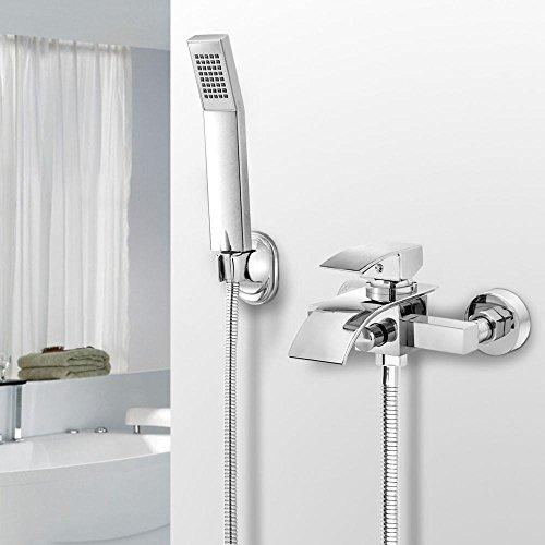 AuraLum Led Waschtischarmatur Wasserfall Glas Wasserhahn