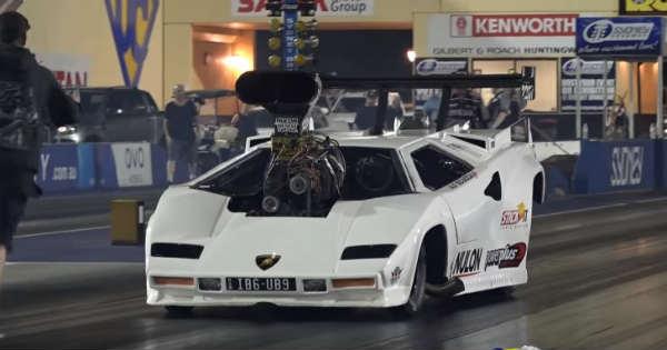DRAG RACE Fastest Lamborghini Mighty Dodge Coupe 1