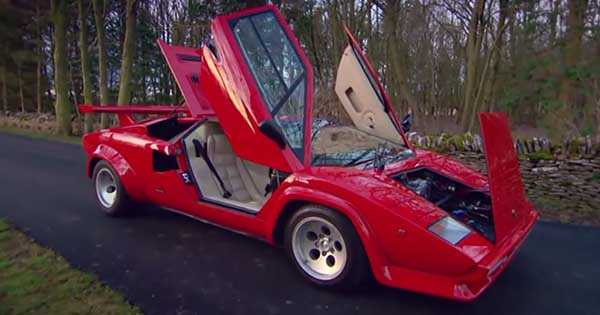 Eight Lambo Countach On One Spot 2