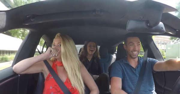 Girls React P100D Tesla Launch 2