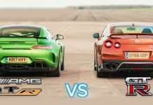 Mercedes AMG GT R vs Nissan GTR Intense Drag Race 1