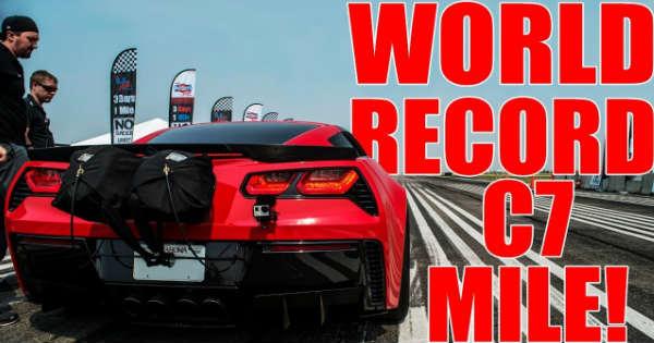 Record-Breaking TES Performance C7 Corvette Mile 1