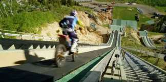 Robbie Maddison Drop InTheSki Jumping Ramp With His Dirt Bike 1