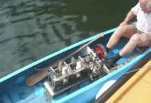 Stirling Engine Powered Canoe hate paddling 1