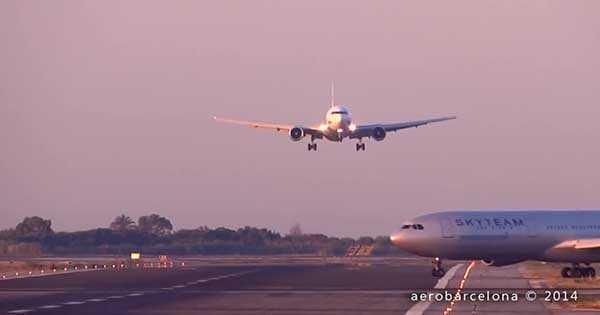 Airplane Close Encounter On Spanish Runway 2