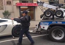 NYPD Traffic Control Towed This McLaren The Wrong Way 1