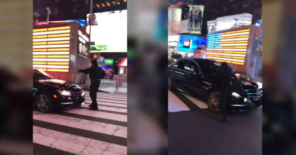 These Two Suspects Got Arrested For The Mercedes Burnout at Times Square 2