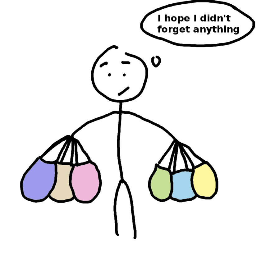 Shopping for food supplements - comic