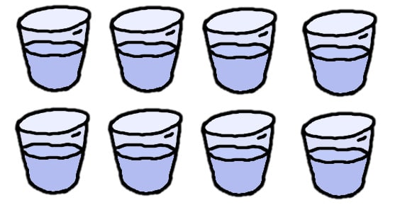 eight glasses of water - comic