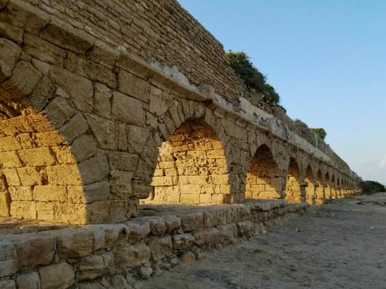 The aqueduct ran 14 miles from Mt Carmel