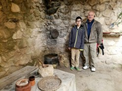 Stephen and Frank inside 1st century house