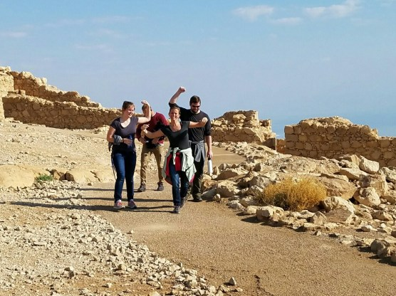 Some of the braver souls who hiked to the top of Masada