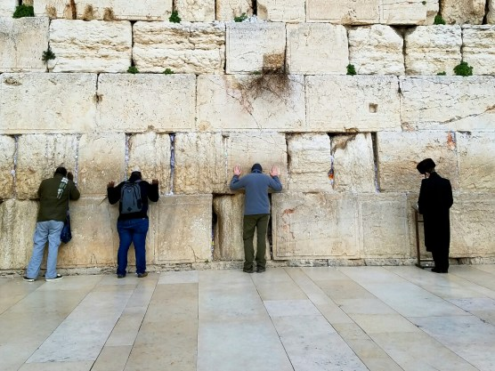 Aaron prays at the western wall