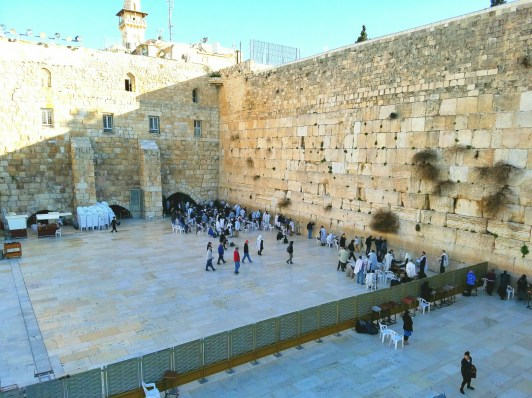 We passed the western wall as we ascended to the Temple Mount