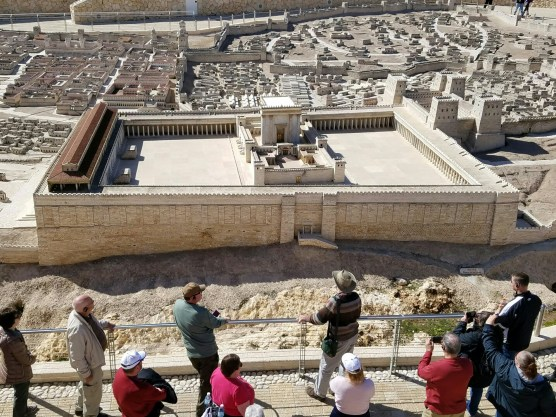 Scale model of ancient Jerusalem. Very detailed and covers nearly an acre.