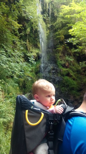 Issy at waterfall