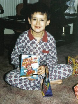 Me at Christmas aged 6. Little did I know I'd be reviewing the Virtual Console version 20 years later