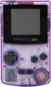 Basically, I'll be as transparent as a purple Game Boy Color