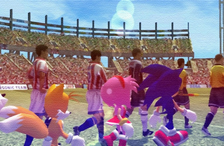 That time when Sonic played football in Virtua Striker
